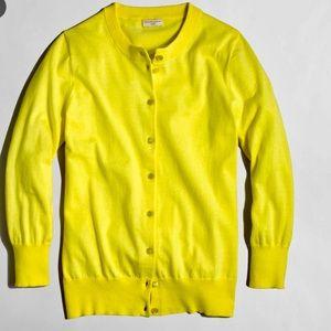 J. Crew Factory Clare Cardigan bright yellow